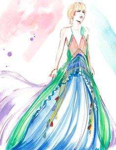 Fashion Illustration - Meagan Morrison - Watercolour