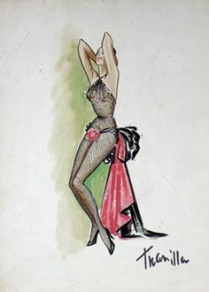 Showgirl sketch by William Travilla-- one of my favorites