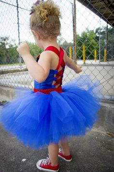Superman Costume Superman Tutu Dress Satin by TutullyCuteDesigns