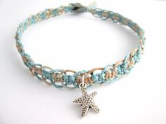 Beach Anklet Starfish Jewelry Hemp Anklet Boho