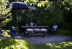 House of Philia Dream Home Design, House Design, House Of Philia, Black Garden, Backyard, Patio, Amazing Spaces, Outdoor Furniture Sets, Outdoor Decor