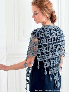 Materiales gráficos Gaby: Chal de motivos en crochet#more