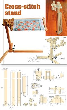 Cross Stitch Stand Plans - Woodworking Plans and Projects | WoodArchivist.com