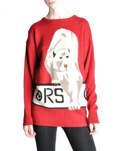 Krizia Vintage Red Orso Polar Bear Sweater | eBay