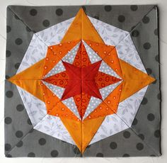 bright modern paper pieced block: wombat quilts with pattern from 627handworks