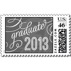 GRADUATION CLASS OF 2013 | Charcoal Gray Stamps