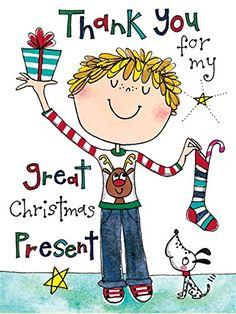 Rachel Ellen Boys Thank You For My Christmas Present Cards