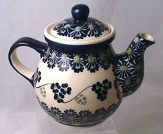 Polish Pottery Teapot for One Classic MCP Three Sisters | eBay