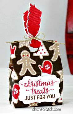 Christmas Treat Box with Chic n Scratch, Stampin' Up! Demonstrator Angie Juda