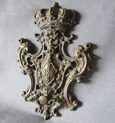 Antique Architectural Element with Crown