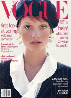 Vogue US February 1993 - Amber Valletta