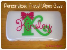Personalized Travel Baby Wipes Case by TheDecalQueen on Etsy, $8.00