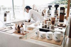 . . ( 昨年の夏の☝ ) なつかしい写真 。嵐山のアラビカさん ☕ % あぁ~ 京都いきたいなぁ ⸝⸝⸝ . #arabicacoffee #arabica #arabicakyoto #cafe #coffee #☕ #Kyoto #olympuspen #vsco 2016.6.19_8_2_4_