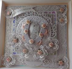 wedding card made with tattered lace tonic spellbinders and memory box i think