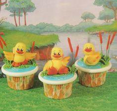 Duck On The Lake cupcake tutorial