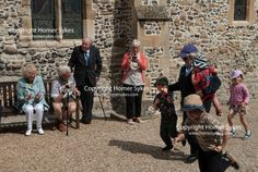 Sandwich Kent annual bun race. St Bartholomew's Bun Race. The Bartlemas Bun Race at Sandwich Kent England August 24th 2017. St. Bartholomew's Hospital is one of the oldest established hostels for travellers and pilgrims, dating back possibly to 1190.