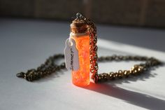 Sunshine in a bottle, summer spell potion bottle, Harry Potter wizard magic spell, Fantasy necklace - pinned by pin4etsy.com