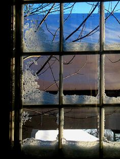 Alpenstrasse - Evening Ice by lefeber on imgfave Window View, Open Window, Window Panes, Window Art, Looking Out The Window, Through The Looking Glass, Snow Scenes, Winter Scenes, Ventana Windows