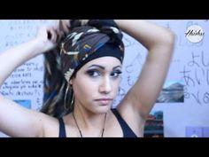 20 formas de hacer un Turbante de Moda con 1 pañuelo (DIY) - YouTube