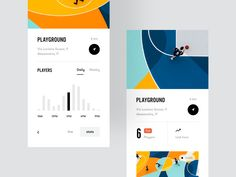 Hoop - best Courts near you by Lorenzo Dolfi for on Dribbble Mobile App Design, Mobile Ui, Daily Ui, Ui Ux Design, Graphic Design, Screen Design, Show And Tell, Data Visualization, Packaging Design