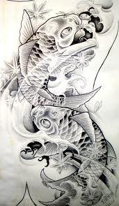 Resultado de imagem para tattoo oriental carpa desenho