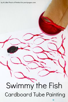 Swimmy the Fish Cardboard Tube Painting Pre-K
