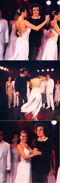 Harry learning Tango steps Argentina, 2014 ♥️♥️♥️♥️♥️