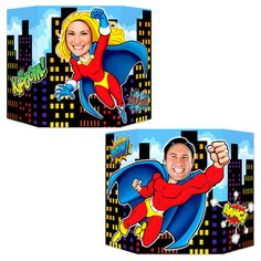 Beistle x Hero Party Photo Prop - 6 Pack Multicolor(Paper) Superhero Party Supplies, Superhero Theme Party, Batman Party, Photobooth Baby Shower, Marvel Dc Comics, Birthday Party Decorations, Party Themes, Party Ideas, Birthday Parties