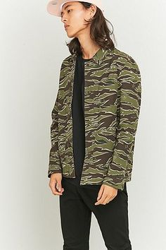 Shore Leave by Urban Outfitters Camo Chore Jacket - Urban Outfitters