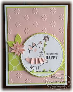 Oksana's Creative Corner: You Make Me Happy . This Little Piggy Stamp set Stampin Up