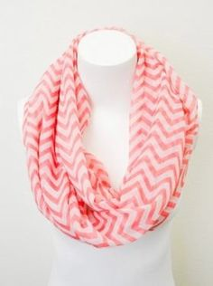 Coral Chevron Infinity Scarf - $14.99 : FashionCupcake, Designer Clothing, Accessories, and Gifts