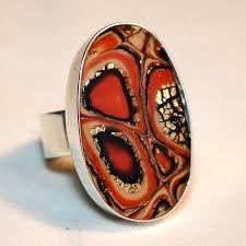 Resultado de imagen de polymer clay ring mokume gane