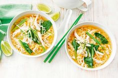 Asian chicken, corn and noodle soup - Take a few shortcuts to make the easiest ever chicken and noodle soup.