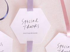 [大]六角形サンキュータグ 大人シンプル プチギフト ウェディング 結婚式 名入れ Tag Design, Message Card, Food Gifts, Craft Items, Kids Toys, Business Cards, Wraps, Merry, Thankful