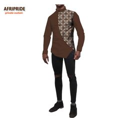 Find More Africa Clothing Information about 2018 spring african style men's shirt AFRIPRIDE private custom long sleeve o neck casual shirt for men batik cotton Quality african men shirts,China african man Suppliers, Cheap african shirt me African Shirt Styles, African Wear Designs, African Shirts For Men, African Print Shirt, African Attire For Men, African Style, African Fashion Skirts, African Men Fashion, Mens Designer Shirts