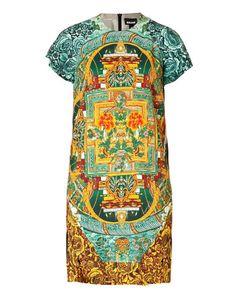 Just Cavalli - Printed Colorblock Dress