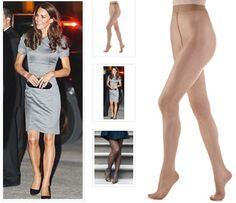 Duchess-worthy glossy sheer pantyhose by Philippe Matignon