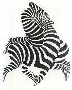 "Виктор Вазарелли работал в стиле геометрического абстракцинизма, от которого и берет начало ""Оп-арт"" (optical art)."