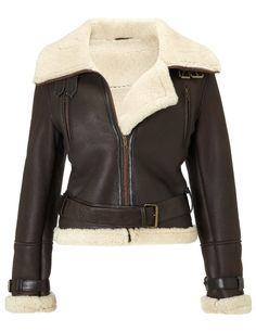 Dlux Chocolate Lambskin Aviator Jacket and other apparel, accessories and trends. Browse and shop 19 related looks. Lambskin Leather Jacket, Shearling Jacket, Aviators Women, Aviator Jackets, Brown Jacket, What To Wear, Autumn Fashion, Jackets For Women, Clothes
