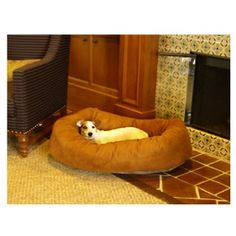 Majestic Pet Bagel Dog Pet Bed - Suede - Dog Beds at Hayneedle