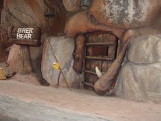 FUN FACT: Splash Mountain: There is a den you float by before the first drop that is the den for Br'er Bear. If you listen closely, Br'er Bear can be heard snoring through the door. That snoring used to play near the entrance to Bear Country and it was Rufus, the bear from Country Bear Jamboree snoring. Disney Trivia, Disney Fun Facts, Disney Disney, Country Bears, Splash Mountain, Disney California Adventure, Snoring, Disney Pictures, Vintage Photos