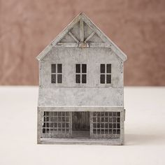 Where to Buy Galvanized Christmas Village - Zinc Metal Christmas Villages Saltbox Houses, Putz Houses, Tin House, Outdoor Garden Furniture, Galvanized Metal, Galvanized Decor, Christmas Villages, Cool Countries, Rustic Christmas