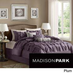 Madison Park Vivian Polyester Solid Tufted 7-piece Comforter Set | Overstock.com Shopping - The Best Deals on Comforter Sets