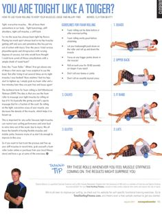 The foam roller makes a huge difference in my warm up.
