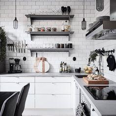 "8,946 Likes, 37 Comments - NORDIK SPACE (@nordikspace) on Instagram: ""Dream kitchen. via @entrancemakleri #scandinavian #interior #homedecor #simplicity #whiteliving"""
