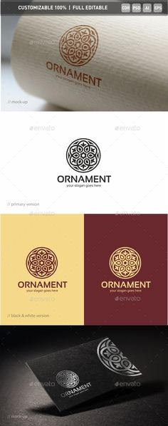 Ornament Logo Template — Photoshop PSD #classic #ornament • Available here → https://graphicriver.net/item/ornament-logo-template/13072427?ref=pxcr