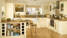 Krem Rengi Mutfak Dolabı Modelleri 03