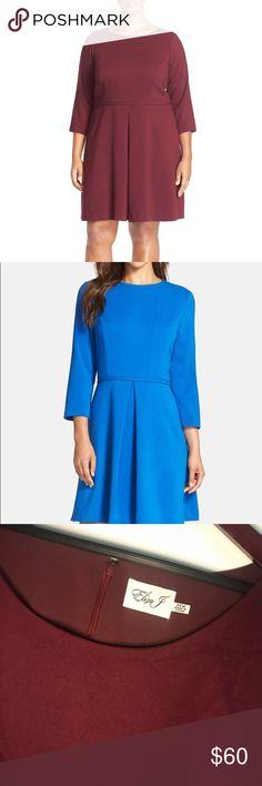 Eliza J Plus size oxblood dress In perfect NWT condition oxblood dress Eliza J Dresses Midi