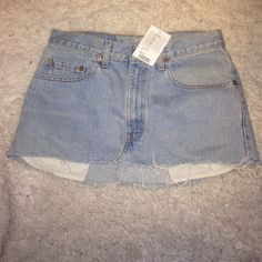 Urban Outfitters Jean Skirt (Levi's) W 32 L 30 Brand new...never worn!! Urban Renewal!! Urban Outfitters Skirts