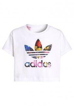 f56bf7a5395fc adidas Originals - T-shirt imprimé - white multicolor Chaussures Ado Fille